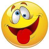 Smiley Fun Aufkleber 100 mm selbstklebend, glänzend für Auto, Motorrad, Fahrrad, Boot oder Caravan