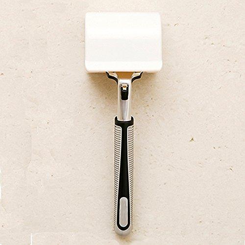 Artline Best selbstklebend Razor Halter Rasierer Rack mit hinzufügen Staub Cover Design in Weiß Farbe, ideal Badezimmer Rasierer Aufbewahrung-Kunststoff Rasierer-Halter, für Reisen Digital Video Recorder Rack