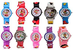 dcmr Analogue Multi-Colour Dial Children Combo Of 10 Watch(10)