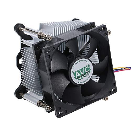 Festnight Ventilateurs de Heatpipe sans Bruit Radiateur Silencieux Radiateur Thermostat de Contrôle de Vitesse PWM pour Intel 1155 1150 1151
