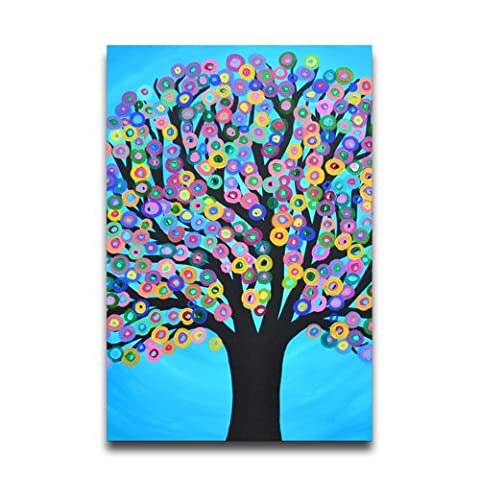 Colorful Circle Tree Poster Cool Wall Paper Poster, 20
