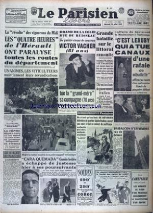 PARISIEN LIBERE EDITION DE PARIS (LE) [No 2760] du 29/07/1953