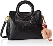 Zeneve London Womens Satchel Bag, Black - 1191832031