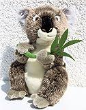 Koala mit Eukalyptus-Zweig * 31 cm * Plüschkoala Plüschtier Koalabär