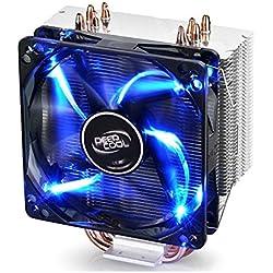 Deepcool Gammaxx 400 Blu Dissipatore Cooler 4 Heatpipes Ventola PWM da 120 mm LED BLU per CPU Intel AMD Compatibile AM4