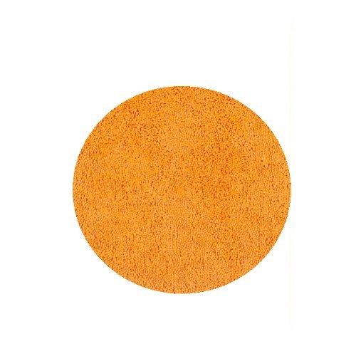 Spirella Badteppich Badematte Duschvorleger Mikrofaser Hochflor | flauschig | rutschhemmend | geeignet für Fußbodenheizung |60 cm Rund | Orange