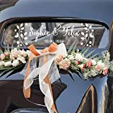Floreali Nome Personalizzato Data Stickers DIY Wedding Decorazioni auto adesivo vinilico personalised sposa sposo nomi con Data Matrimonio LC777