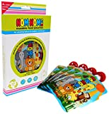 Reusable Food Pouch - 140ml Animal design x 4 pouches - BPA Free - no leak side double zip design - easy to fill for baby, toddler and kids squeeze snacks, smoothies, fruit puree