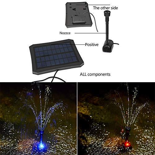 Gracorgzjs - Bomba de Agua Sumergible con luz Solar LED para jardín, Estanque, Piscina