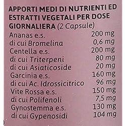 BIOSNEL Formula Potenziata Salugea - Integratore per la cellulite e la ritenzione idrica: depura e sfiamma - 100% naturale con Ananas, Garcinia, Vite Rossa, Gynostemma - 60 capsule vegetali