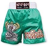 M.A.R International Ltd Kick Boxen & Thai Boxing Shorts Kickboxen Hose MMA Hose Boxen Kleidung Muay Thai K1GEAR Polyester Satin Stoff grün Medium grün - grün