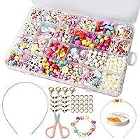 pengxiaomei Children DIY Beads Set, 24 Different Types Bracelet Bead Art & Jewellery Making Tool, String Making Set, Bead string making set