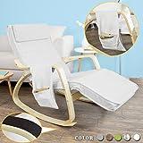 SoBuy Schaukelstuhl mit Tasche (verstellbares Fußteil),Relaxstuhl,Relaxsessel,Belastbarkeit 150kg, FST18-W