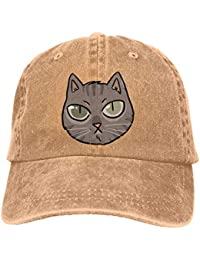Ejdkdo Boss Cat Unisex Washed Adjustable Fashion Cowboy Hat Denim Baseball  Caps Unisex14 443547f5c965