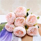 1 Bouquet de Fleurs de Soie de Pivoine Artificielle Vintage pour la décoration