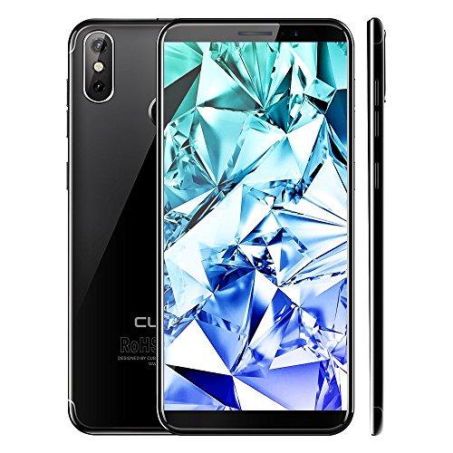 CUBOT J3 Pro 4G LTE Smartphone ohne Vertrag Handy, 5.5 Zoll 18: 9 Voll Bildschirm, Android GO 16GB ROM 1GB RAM MT6739 Quad-Core, 13MP+2MP Dual-Rückkamera,2800mAh Akku,Fingerabdruck (Schwarz)