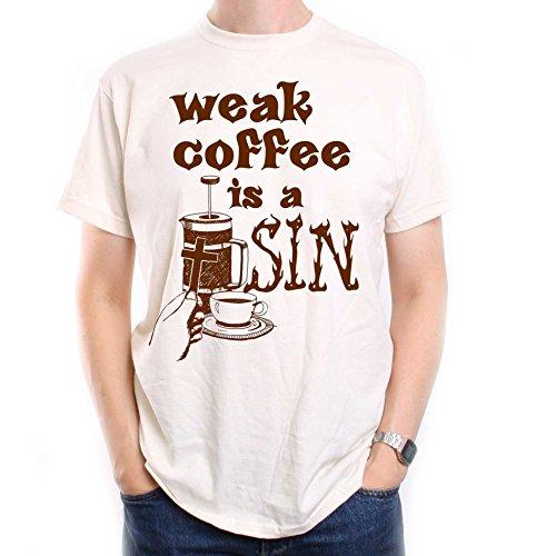 Weak Coffee Is A Sin T shirt – An Old Skool Hooligans Designer Original 51z 7Sbt9xL