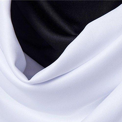 Oyedens Herren Sommer Modisches Patchwork Oansatz Kurzarm T Shirt Weiß