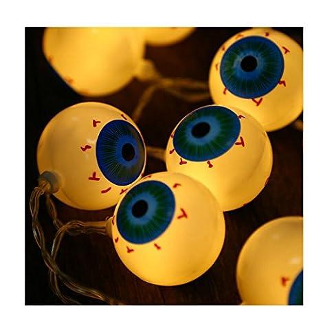 Xianheng Halloween 20 LED Lichterkette String Lampe für Dekor Orange Augapfel