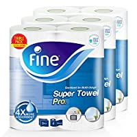 Fine, Paper Towel - Super Towel Pro, Sterilized, 70 Sheets x 3 Ply, pack of 6 rolls