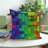 Kissenbezug, bunte abstrakte Rainbow Kissen Fall Taille Kissen Fall - glatt, weich, atmungsaktiv und komfortabel-45 * 45 cm