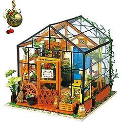 Rolife Miniatur Puppenhaus Küche Kits mit Licht DIY Holz Mini Haus Modell Erwachsene-Kinder 14 15 16 17 18 Jahre Alt (Cathy's Flower House)