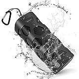 Bluetooth Lautsprecher Wasserdicht, 20W Tragbarer Lautsprecher Boxen Bluetooth, Reinem Bass, Dual-Treiber, Eingebauten Mikrofon, 24 Stunden Spielzeit & 5200mAh Laden Sie Ihr Telefon jederzeit auf