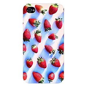 EYP StrawberryPattern Back Cover Case for Apple iPhone 4S