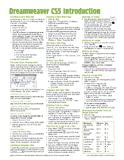 Dreamweaver CS5 Introduction Quick Reference Guide (Cheat Sheet of Instructions, Tips & Shortcuts - Laminated Card) by Beezix (2011) Pamphlet