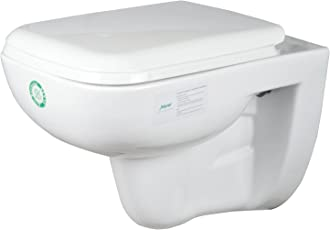 Jaquar Ceramic Wall Hung Commode, 1-Piece, White, FLS-WST-5951