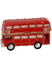 Joyero rojo Caja Joyero con diseño de autobuses de Londres