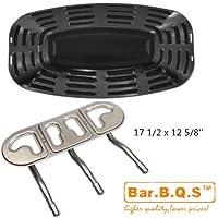Bar.b.q.s Uniflame GBC730W, GBC621CR-C, Kit di sostituzione GBC730E-C include acciaio inossidabile 1pack Burner e 1Pack piatto di porcellana d'acciaio di calore a gas Grill Parti barbecue