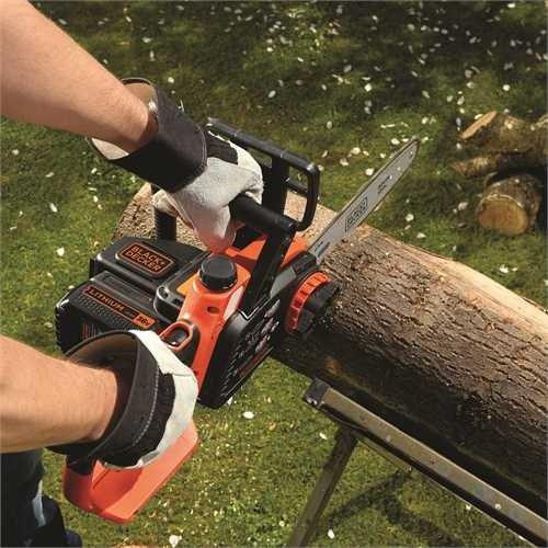 Black+Decker Li Ion Akku Kettensäge 36V GKC3630L20 mit Akku und Ladegerät/Ideal für Holz- & Gartenarbeiten/30 cm Schwertlänge - 4