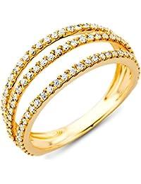 Miore  18 Karat (750) Gelbgold 52 (16.6) Damenring, mit  93 (0,49 cts) Diamanten M0343AY