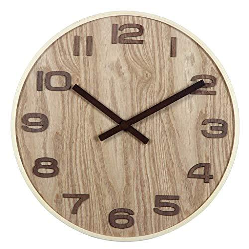 ZHAS Grandes números árabes Cuarzo Reloj Pared 12/14/16