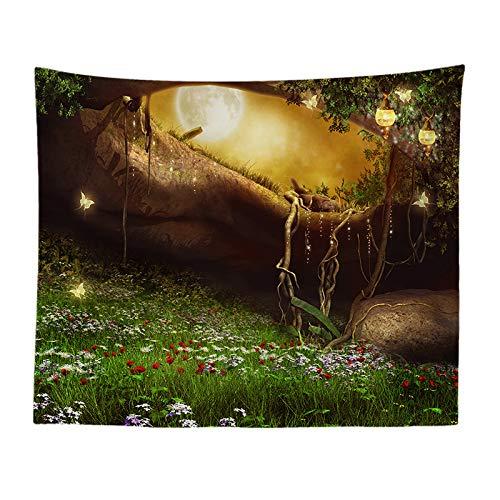 Jtxqe paesaggio serie fantasy cartoon stampa arazzo soggiorno murale decorazione studio panno muro di fondo 890 130-150