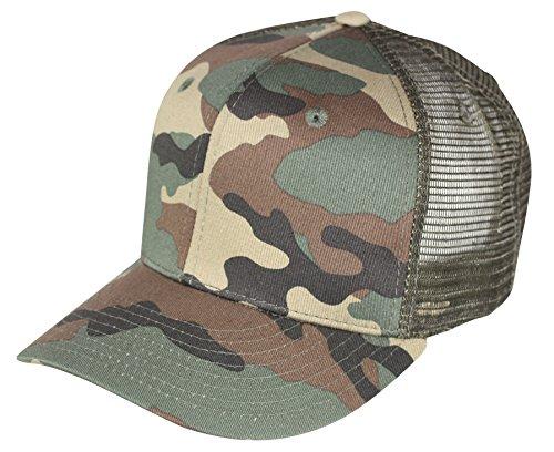 Emeco ® Baseball Trucker Caps Mesh Cap Classic TRUK2210 (WOODLAND CAMO-1053-WDL)