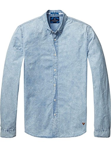 Scotch & Soda Herren Freizeit-Hemd Bunt