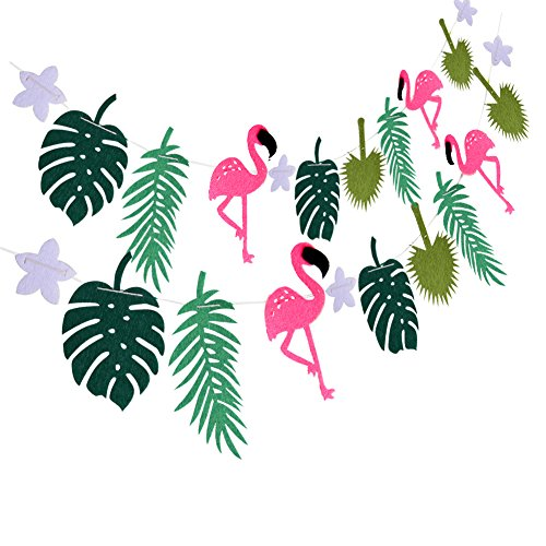 Hawaii Flamingo Party Banner Decoration For Summer Beach Luau Party Banner Garland Supplies (Party Beach Supplies)