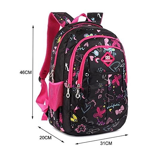 Bebamour School Bag Backpack for Girls Butterfly and Sweetheart ... 6f7f611c35b0c