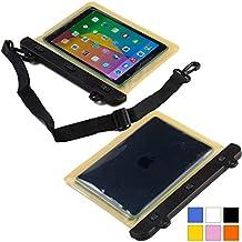 Funda resistente al agua tipo sobre Voda de Cooper Cases(TM) para tablet de Samsung Galaxy Tab 3 8.0 (T311/T315/T310) en Amarillo (diseño ligero, ventana táctil, hermética, asa para hombro ajustable)