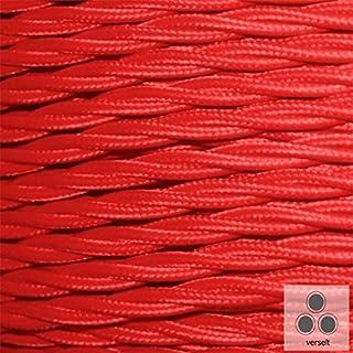Textilkabel Stoffkabel rot , 3-adrig verseilt