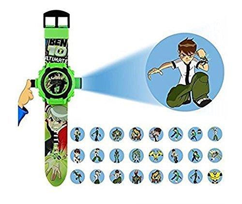 Ben 10 Cartoon images Projector Watch Kids Digital Wrist Watch cartoon character watch for kids gift, christmas gift, X-mas gift