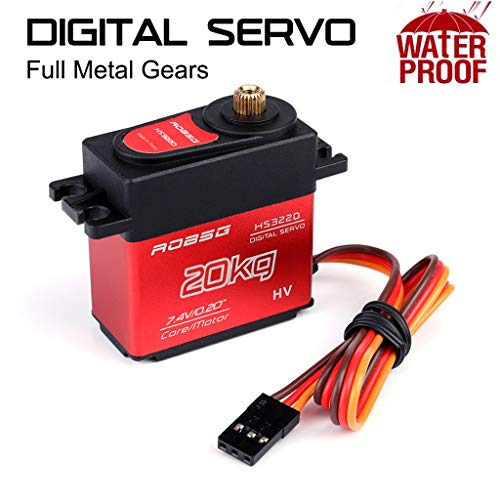 Markthym HS3220 180 Degree Digital RC Servo 20KG Torque Waterproof Metal RC Servo Motor HS3220 180 Grad Digital RC Servo 20KG wasserdichter Metall-RC-Servomotor
