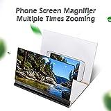 Eboxer Agrandisseur d'écran de téléphone Portable 8 Pouces Écran Loupe 3D Pliage avec Support Amplificateur d'écran pour Smartphone (Vert foncé)