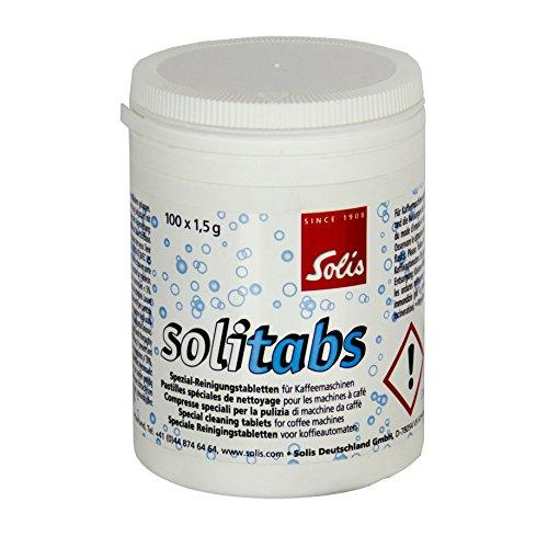 Solis Reinigungstabletten für Kaffeemaschinen, 100 Stück, Solitabs