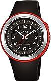 Lorus Unisex Erwachsene Analog Quarz Uhr mit Silikon Armband R2303MX9