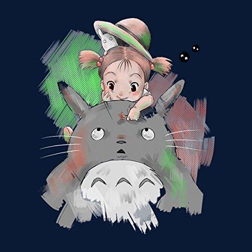 Cute Mei My Neighbor Totoro Women's Vest Navy blue
