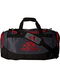 5f81cf8419 adidas Unisex Defense Medium Duffel Bag Lead Light Scarlet One Size