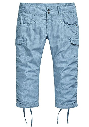 Timezone Damen 3/4 Cargo Shorts 14-10000 Holiday Loose Fit light blue mosaic W26 (Multi-pocket-capri-hose)